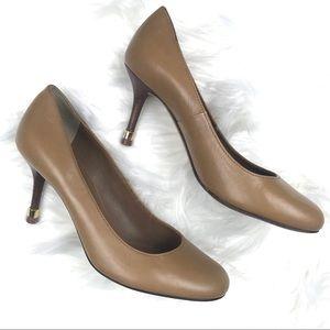 Tory Burch nude heels.